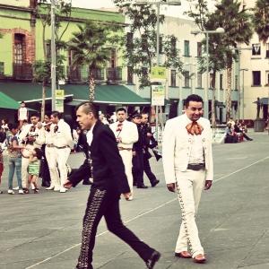 Mariachi in white